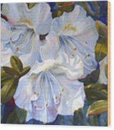 White Azaleas Wood Print