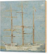 White Barque Wood Print