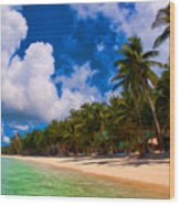 White Beach Boracay Wood Print