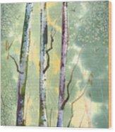 White Birch Wood Print