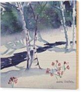 White Birches Wood Print