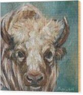 White Bison Wood Print