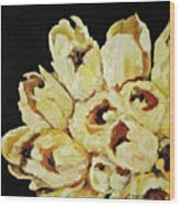 White Bouquet Wood Print