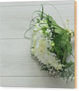 White Wedding Bouquet  Wood Print