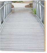 White Bridge Wood Print