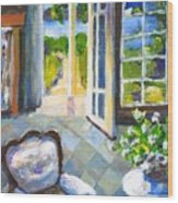 White Chair Nantucket Wood Print