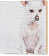 White Chi On White Wood Print