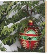 White Christmas II Wood Print