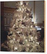 White Christmas Snow Ball Gala Wood Print