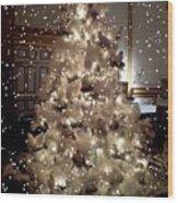 White Christmas Snow Wood Print