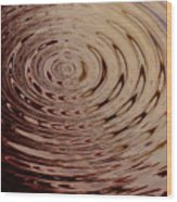 White Circle Wood Print
