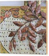 White Ckicken Wood Print