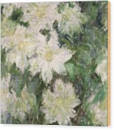White Clematis Wood Print by Claude Monet