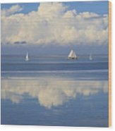 Romantic View With Sailboats In Holland Wood Print