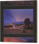 White Clouds Triptych Wood Print