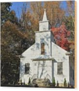 Little Country Church Wood Print