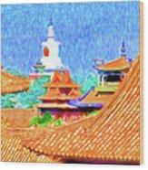White Dagoba View Wood Print