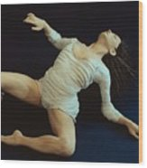 White Dancer Left View Wood Print