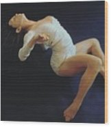 White Dancer Right View Wood Print