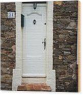 White Door 23 Wood Print