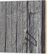 White Door Handle Wood Print