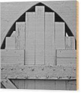 White Door Wood Print