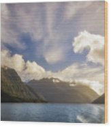 White Dragon Cloud In The Sky At Lake Manapouri Wood Print