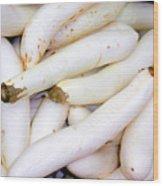 White Eggplants Wood Print