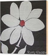 White Flower Wood Print
