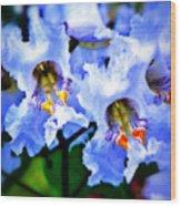White Flowers Wood Print