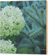 White Flowers W14 Wood Print
