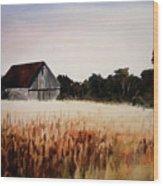 White For Harvest Wood Print