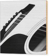 White Guitar 10 Wood Print