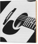 White Guitar 4 Wood Print