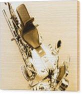 White Harley Davidson Wood Print