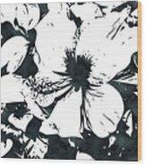 White Hibiscus- Art By Linda Woods Wood Print