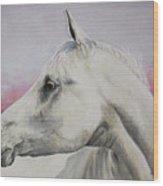 White Horse- Arabian Wood Print