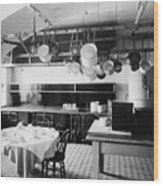 White House Kitchen, 1901 Wood Print