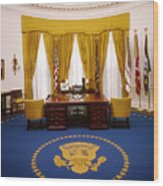 White House: Oval Office Wood Print