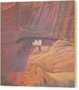 White House Rock  Home Of He Anasazi He Anasazi Wood Print