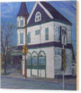 White House Tavern Wood Print