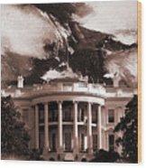 White House Washington Dc Wood Print