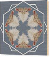 White Ibis Snowflake Wood Print