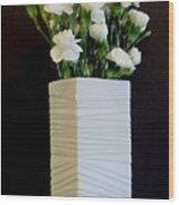 White In White Wood Print