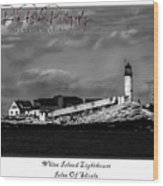 White Island Lighthouse Wood Print