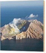 White Island Wood Print