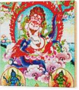 White Jambhala  2 Wood Print