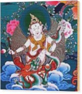 White Jambhala 4 Wood Print
