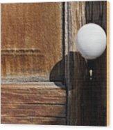 White Knob Wood Print