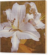 White Lilies. Time To Be Romantic Wood Print